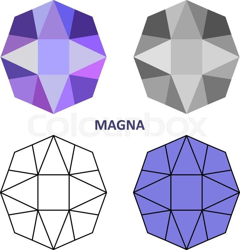 17896130-low-poly-colored-black-outline-template-magna-gem-cutjpg - outline template