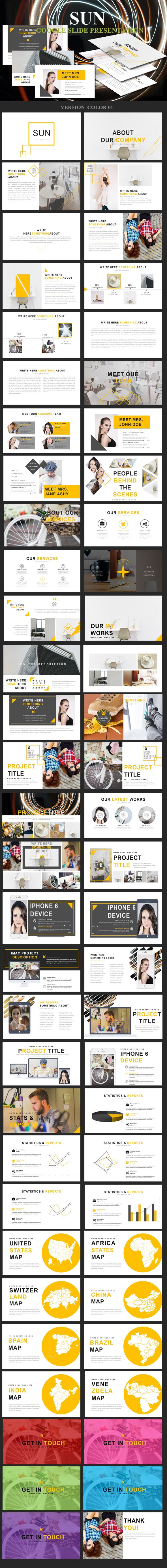 Sun Google Slide Presentation  Business Powerpoint Templates