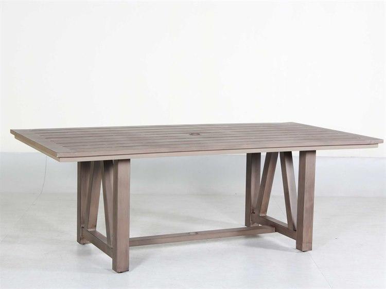 Teva Aruba Aluminum 42w X 84d Dining Table Dining Table Backyard Patio Furniture Table