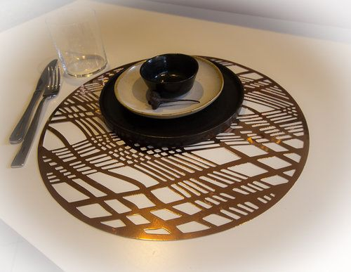 Weave Copper Foil Place Mats 1 Of 1 Jpg Wedding Placemats Placemats Christmas Dinner Table