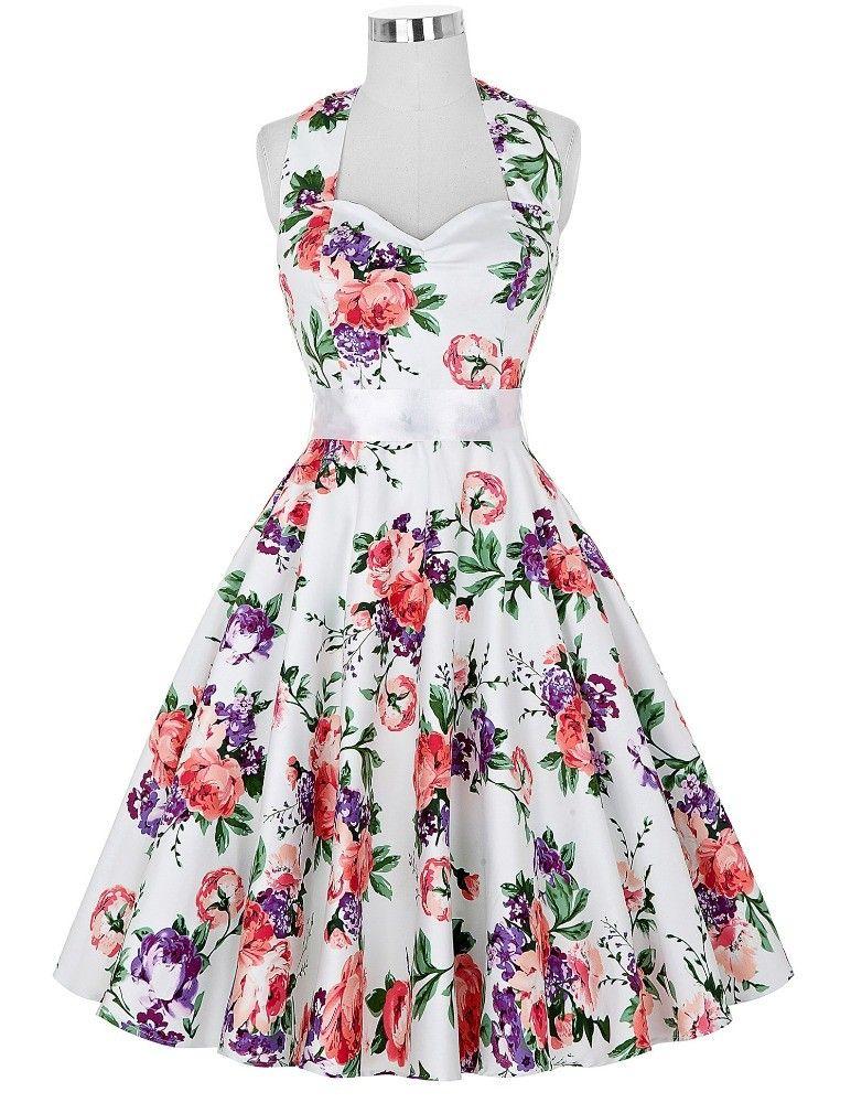 Susses Blumchenkleid Vintage Kleid Vintage Abendkleider Damenkleider Frauenkleider
