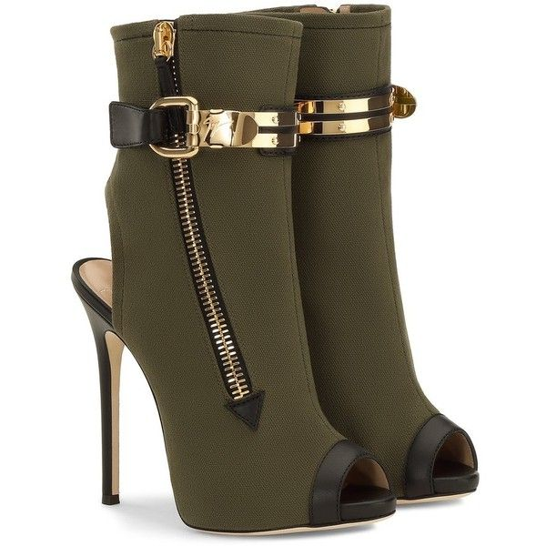 Giuseppe Zanotti Roxie ($1,250) ❤ liked on Polyvore featuring shoes, boots, ankle booties, leather platform boots, flat heel booties, side zip boots, open toe ankle booties and leather sole boots