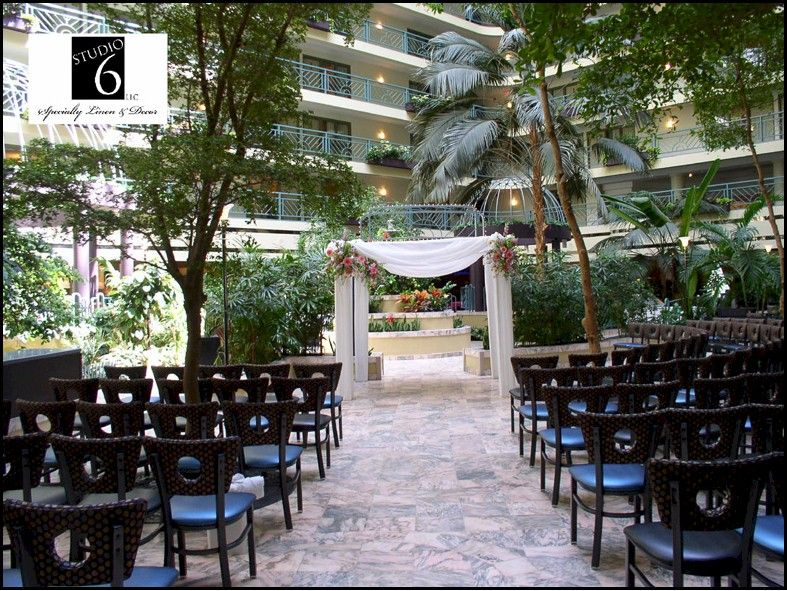 a perfect ceremony location at the embassy suites airport