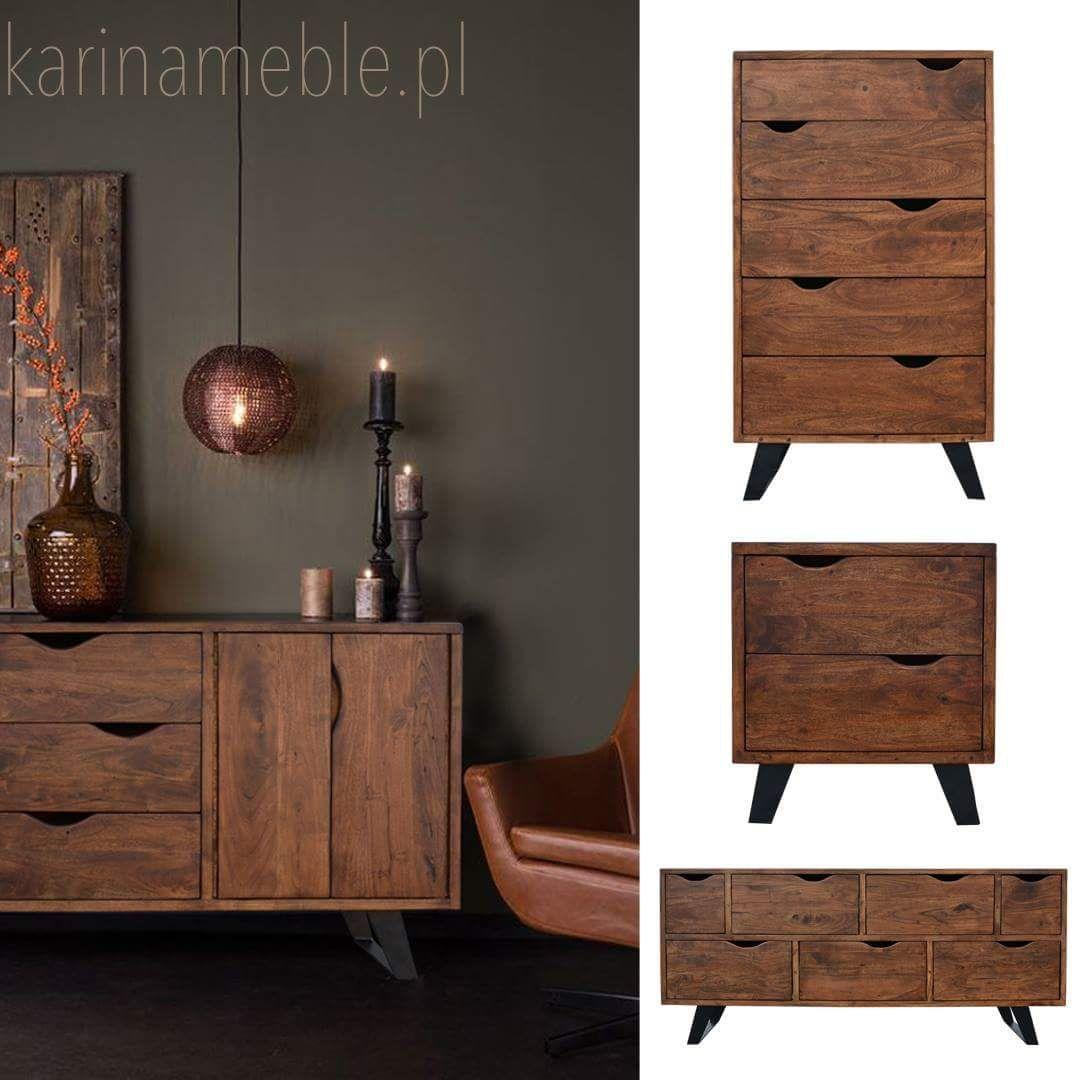 Kolekcja Organic Loft To Seria Mebli Do Nowoczesnych Wnetrz Polaczenie Drewna Akacji I Czarnego Matowego Metalu Wyglada Elegancko Furniture Decor Home Decor