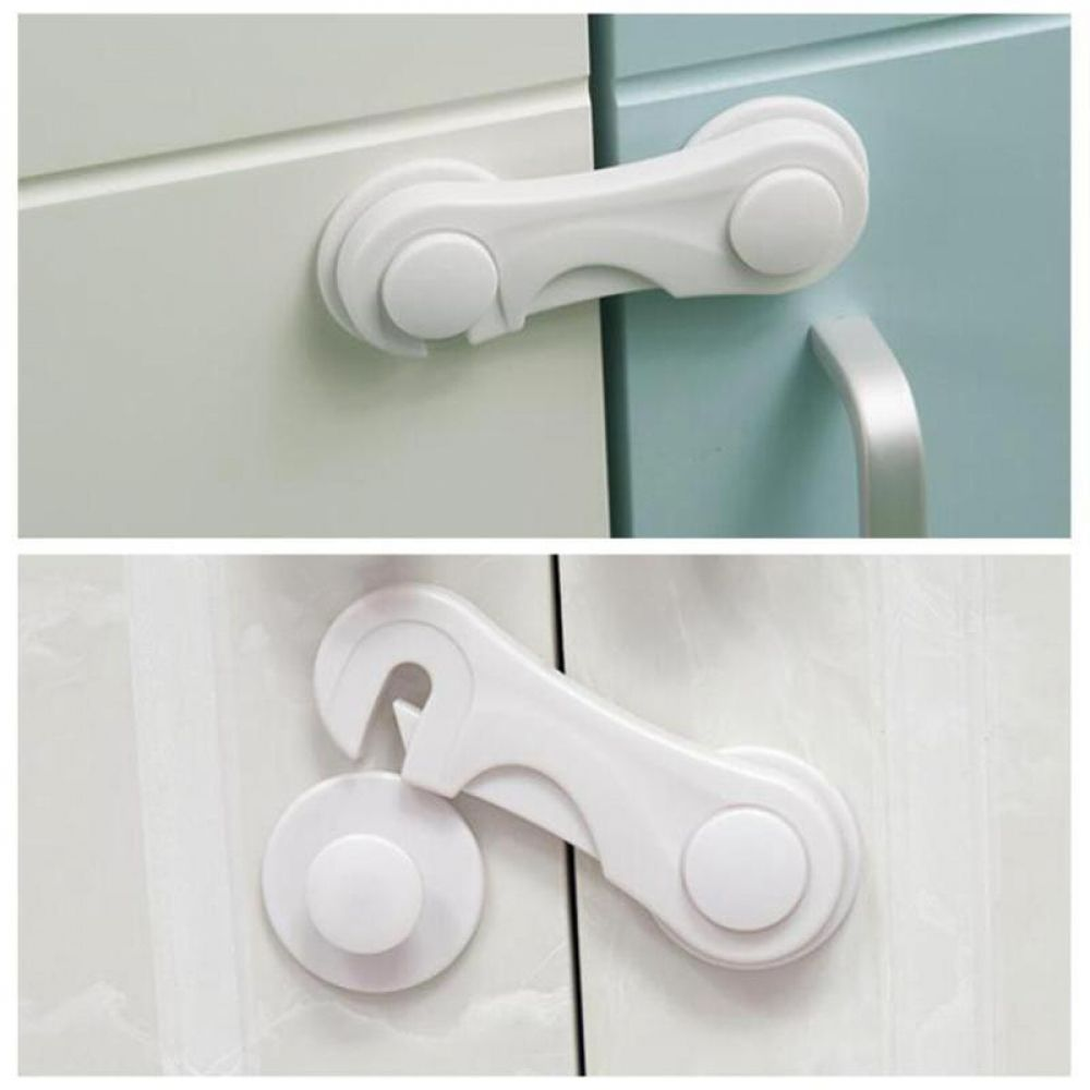 5pcs Kids Wardrobe Fridge Cabinet Drawer Door Cupboard Box Baby Lock Safe Latch