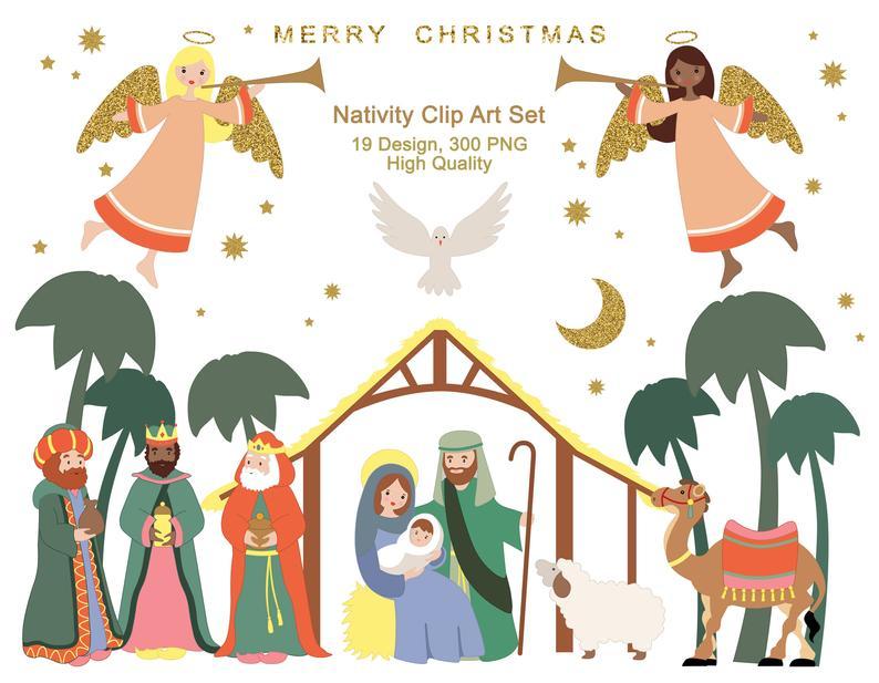 Nativity Set Clipart Christmas Clipart Nativity Scene Lds Etsy Christmas Jesus Nativity Jesus Christmas Cards