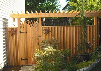 wood fence gate custom design by reliable fence company portland or