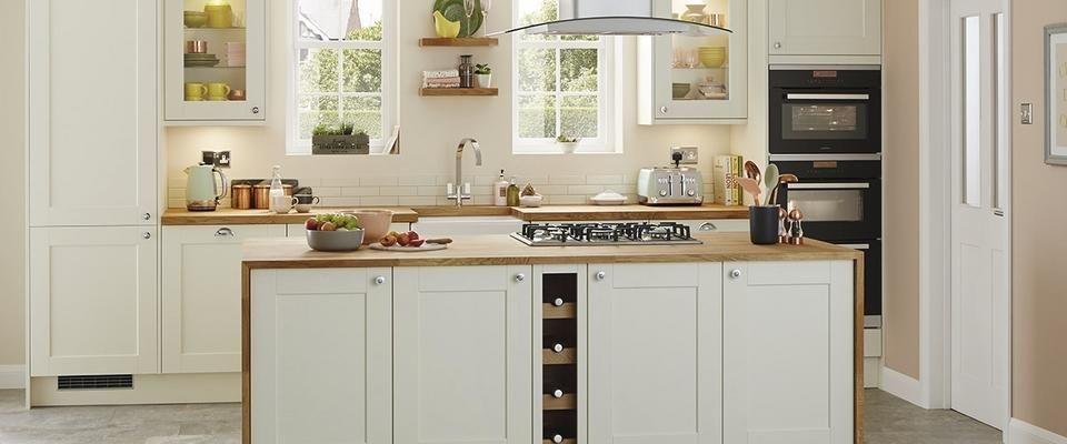 Antique White Country Kitchen new burford grained antique white kitchen | decor ideas