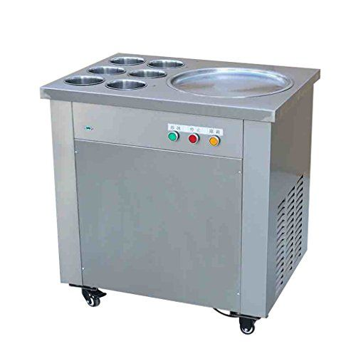 Wotefusi New Commercial Fried Ice Cream Machine Ice Cream Roll