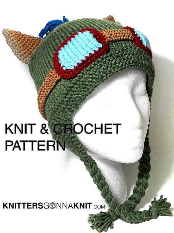 499167a6293 Teemo Hat Knit   Crochet Pattern - digital pdf instant download ...