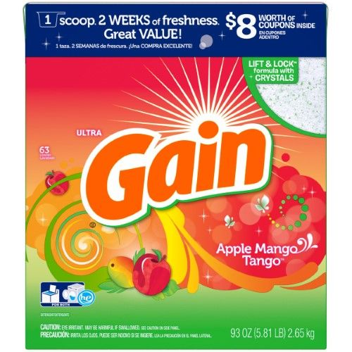 Gain Powder Laundry Detergent Apple Mango Orange Tango Scent