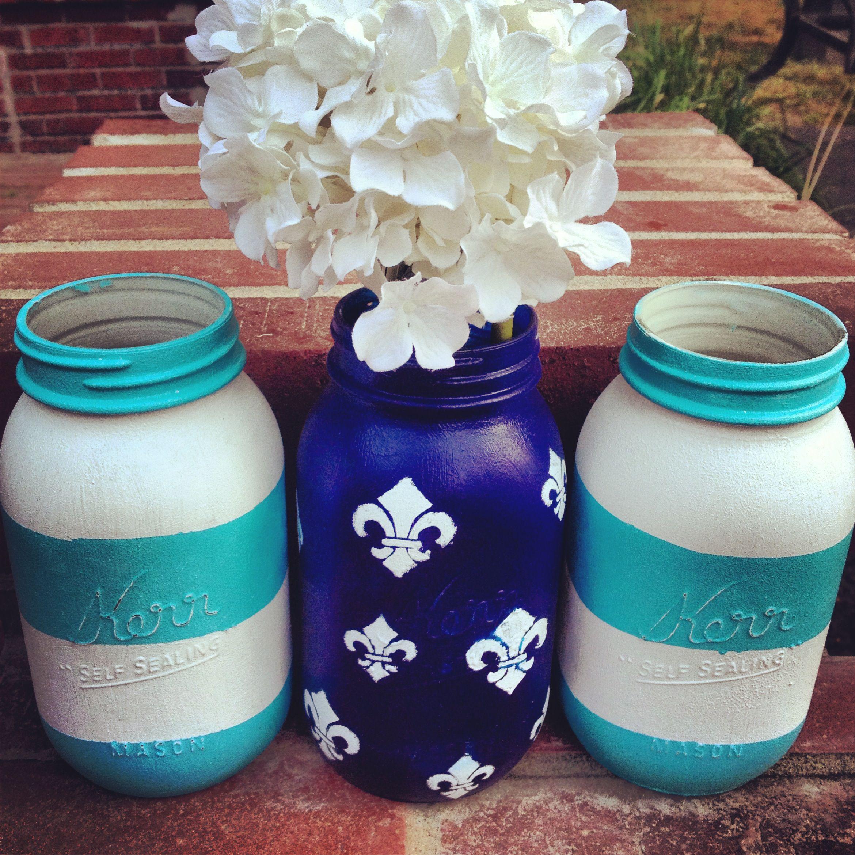 Painted Mason Jars (Reuse Candle Jars Sew)