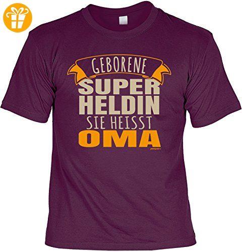 Geschenk für Oma T-Shirt Geborene Super Heldin sie heisst Oma T-Shirt für
