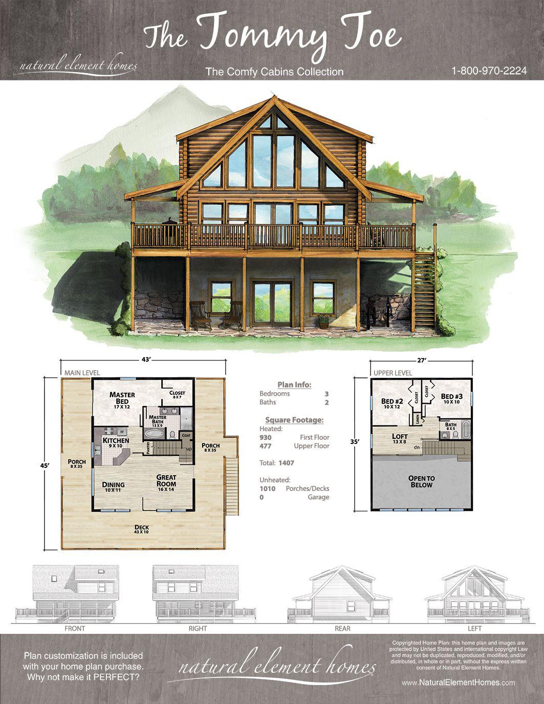 Tommy Toe Plan Comfy Cabins Natural Element Homes Lake House Plans Cabin House Plans Log Cabin Floor Plans
