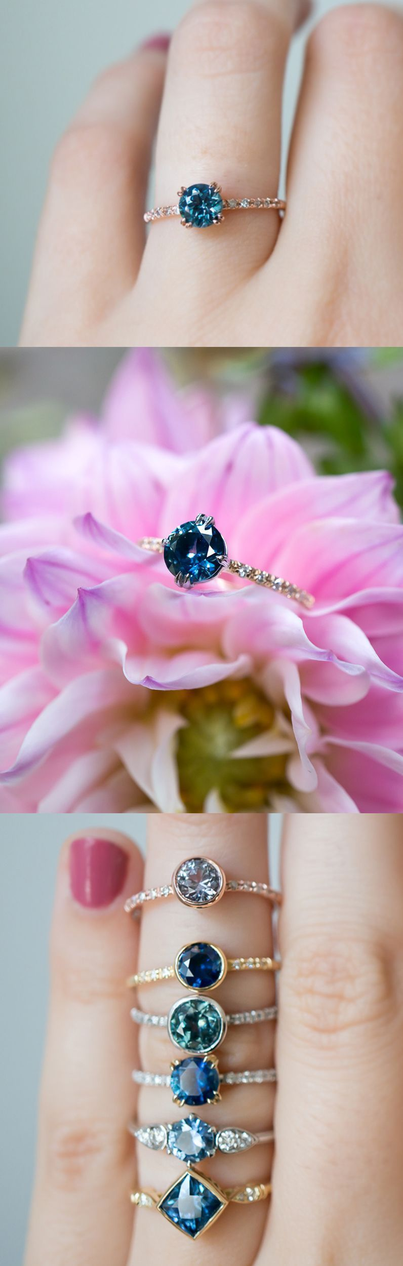 Unique vintage inspired Sapphire engagement rings by S. Kind & Co ...