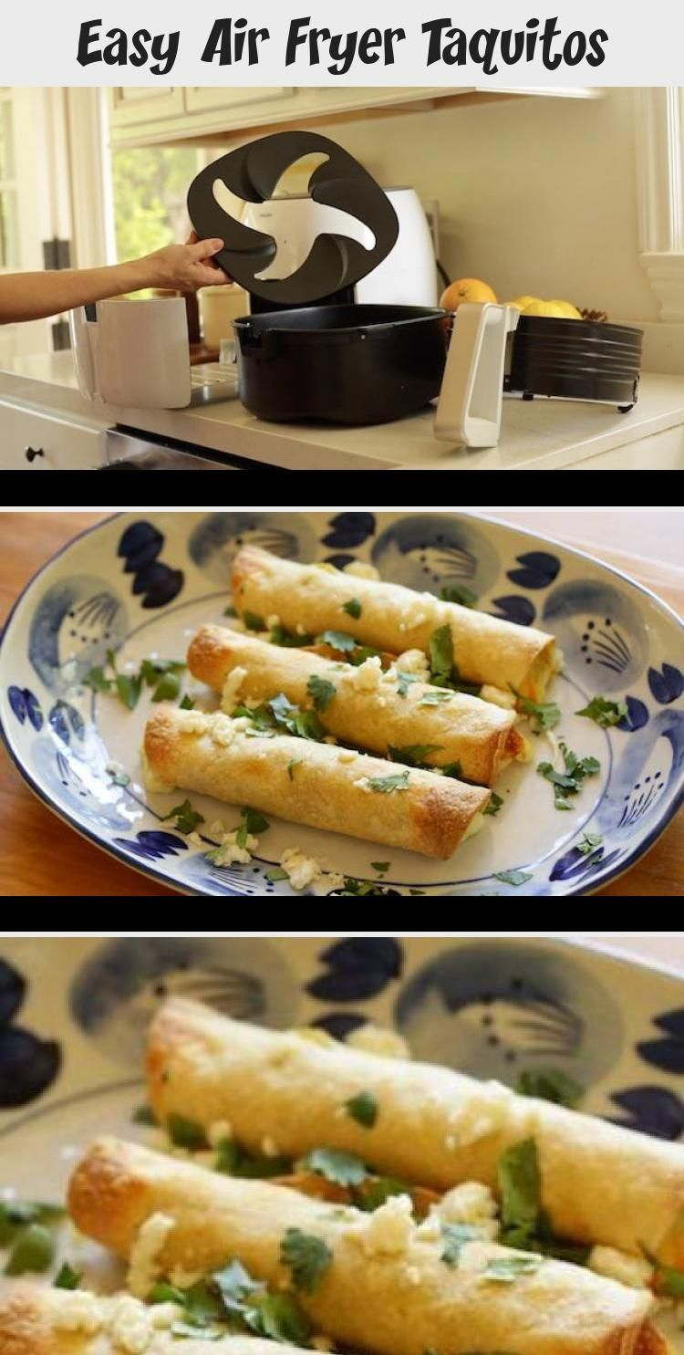 Easy Air Fryer Taquitos that are so quick and SO delicious