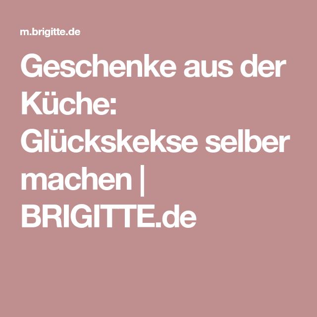 Brigitte Weihnachtsgeschenke Aus Der Küche | Geschenke Aus Der Kuche Gluckskekse Selber Machen Brigitte De