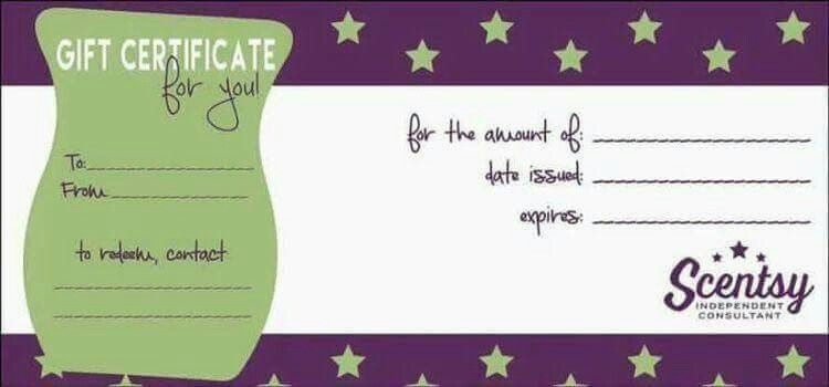 Gift Certificate Scentsy Scentsy Marketing Scentsy Business
