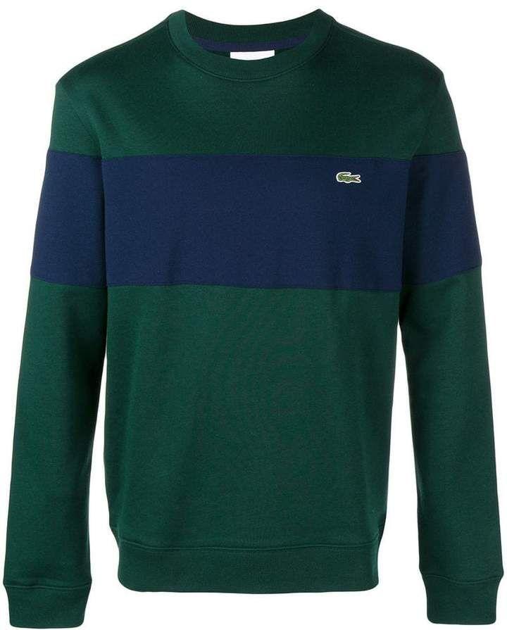 48979deb1c Lacoste striped crew neck sweater | Products | Lacoste, Crew neck ...