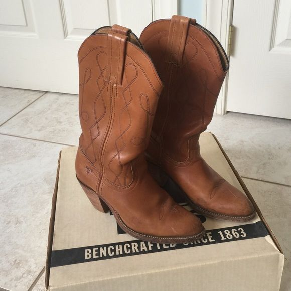 VINTAGE Frye Riding Boots Beautiful Butterscotch Frye Riding Boots. My mom bought these in 1973, and they are still in beautiful condition!!! Gently used, and they still come with the original box. One of a kind and you won't find any around like these today! Frye Shoes Heeled Boots