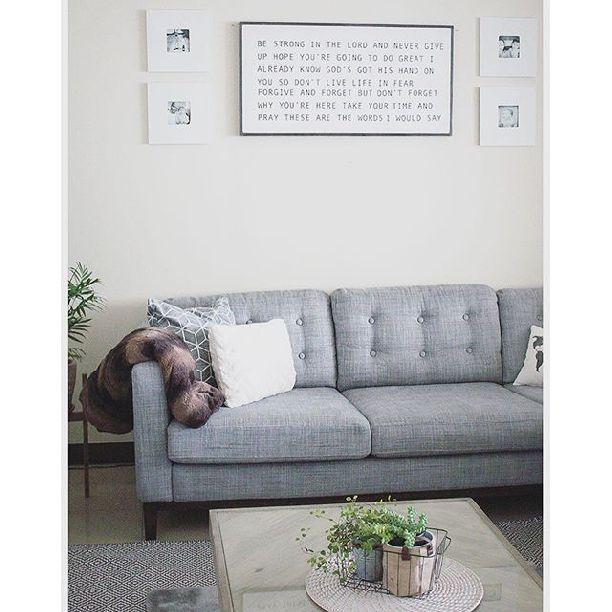 Ikea Karlstad Sofa Hack: How To Tuft/button Your IKEA Karlstad Cushions