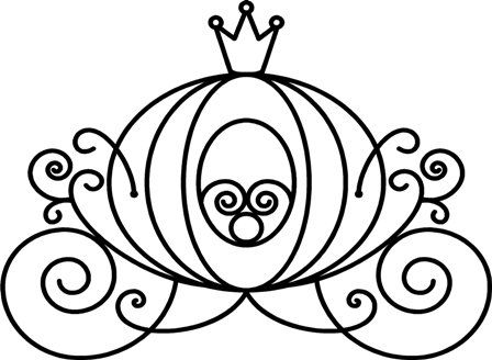 cinderella carriage black and white clipart - Google Search ...