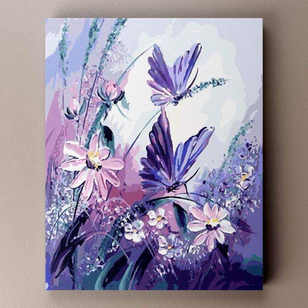 Purple Butterflies Butterfly Painting Wall Art Pictures Canvas Painting