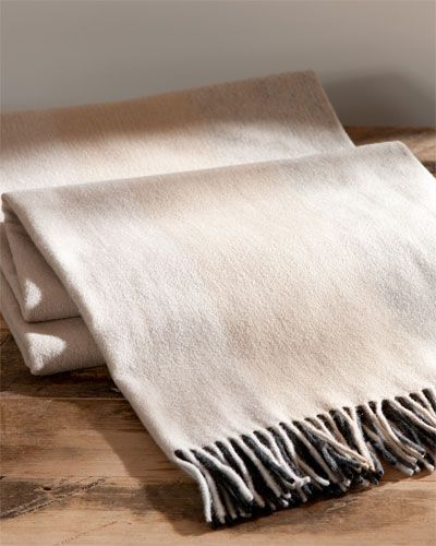 Amicale Ombre Reversible Cashmere Throw