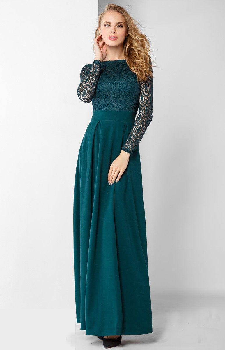 Robe de soiree bleu canard