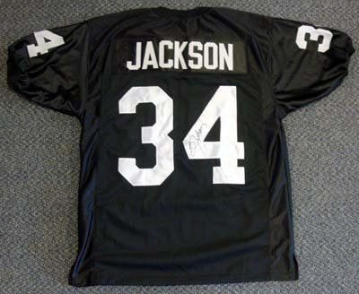 newest 058a3 a4ec5 Bo Jackson Autographed/Hand Signed Raiders Jersey TriStar by ...