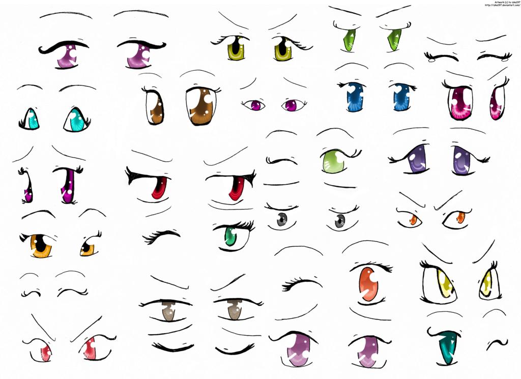 Basic Manga Drawing 1 Anime Eyes Dibujos, Ojos anime y