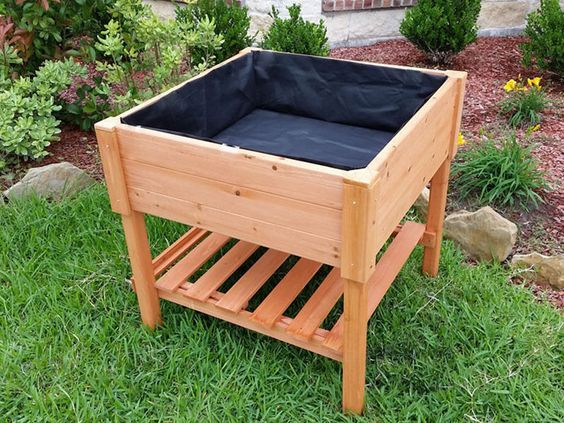 How To Build A Portable Raised Garden Bed Pallet Projects