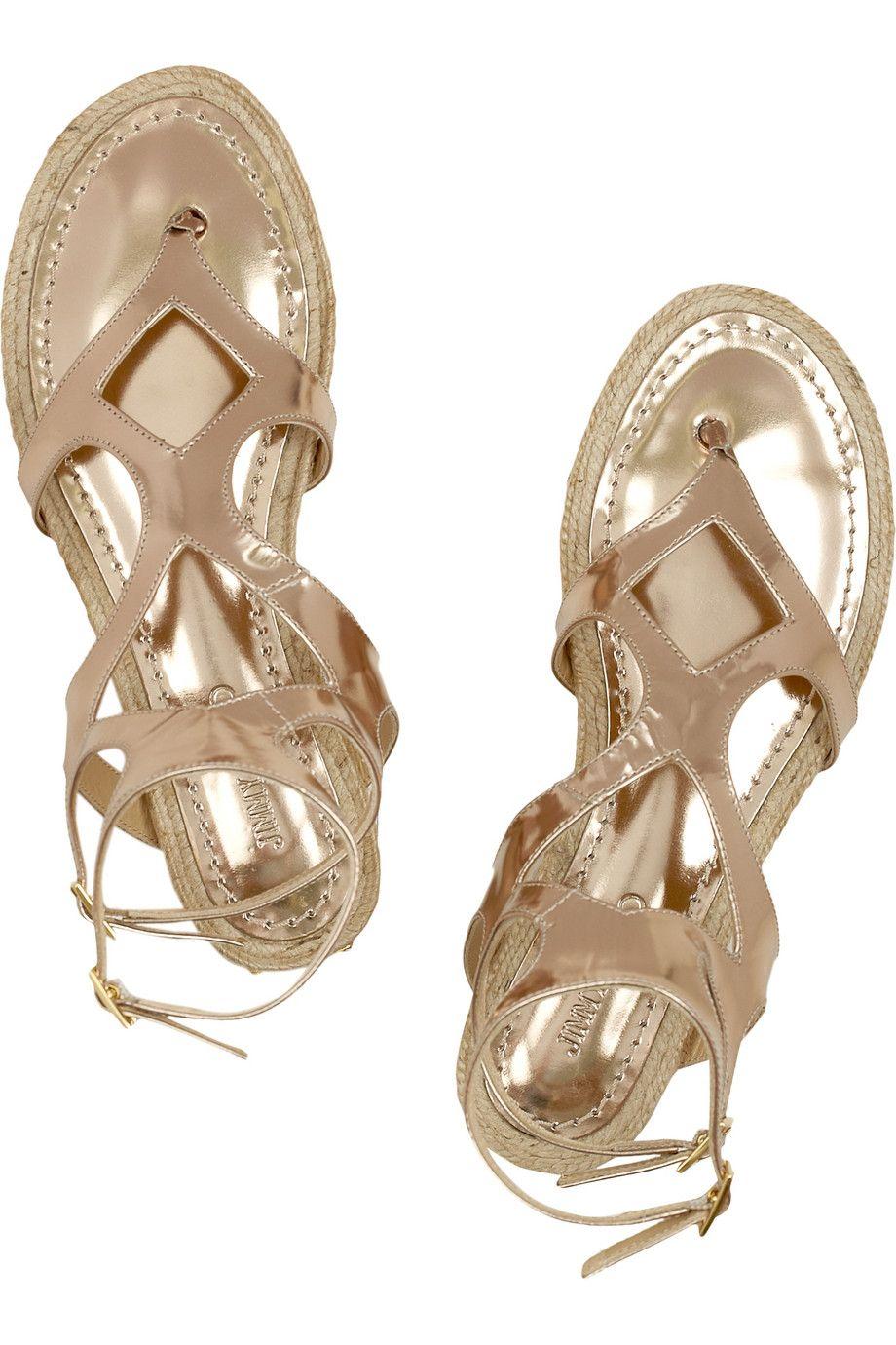 e311a3a00c6a Jimmy Choo - Peachy metallic leather gladiator sandals