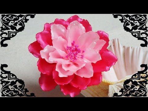 Diy Kanzashi Flower Kanzashi Tutorial How To Make Ribbon Flower Diy Kanzashi Kanzashi Tutorial Ribbon Flower Tutorial