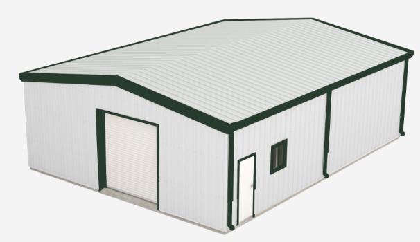 Best Walls Polar White Roof Polar White Trim Fern Green 400 x 300