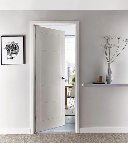 Linear smooth door - Howdens & Linear smooth door - Howdens | Windows u0026 doors | Pinterest ... pezcame.com