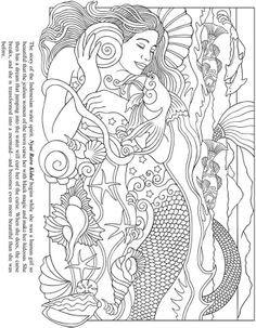 free coloring - Mermaid Coloring Book