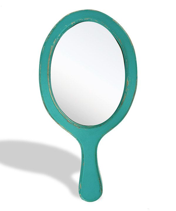 Take a look at this Turquoise Vintage Hand Mirror on zulily today!