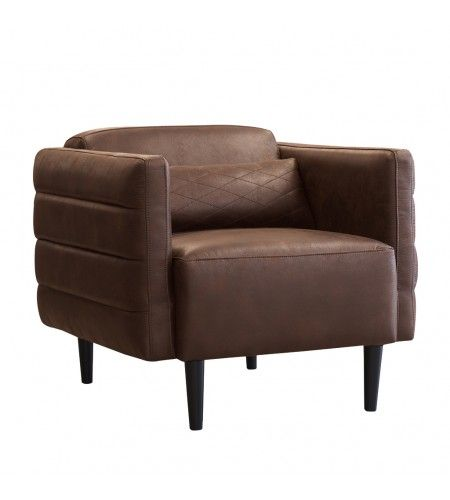 Redondo Accent Chair In Chocolate By Urban Home   Front