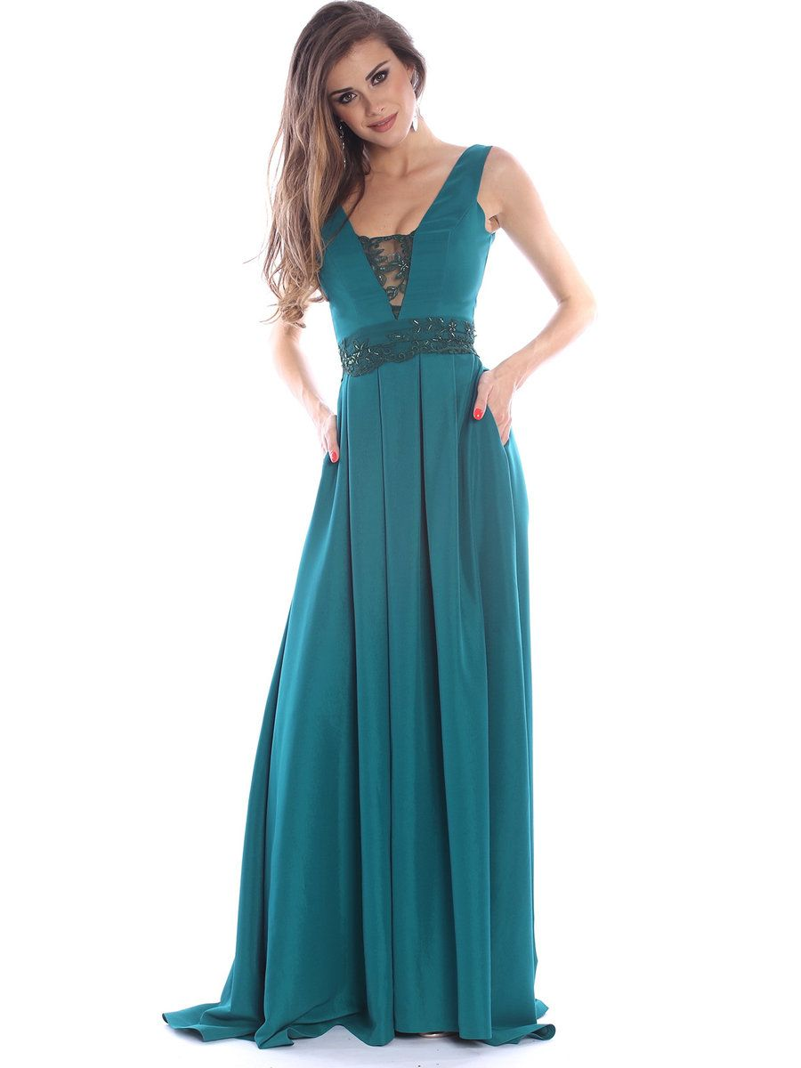 AdoreWe StyleWe Maxi Dresses - ROSERRY Green A-line Sleeveless ...