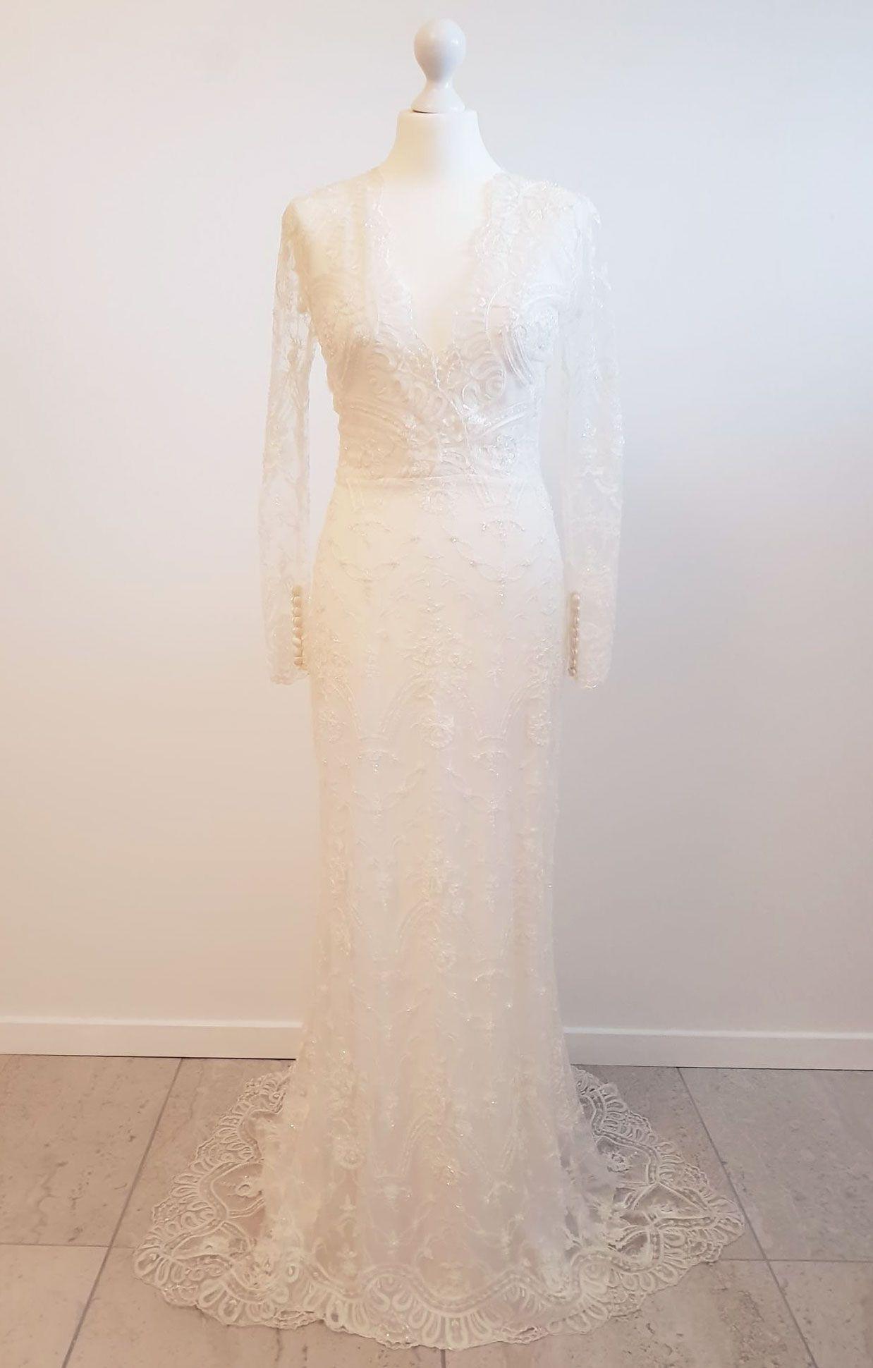 8c3291b8 Smuk, unik, luksus brudekjole fra den danske designer Jesper Høvring. Str.  38