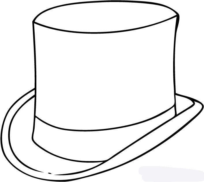 Картинка шляпа для детей раскраска