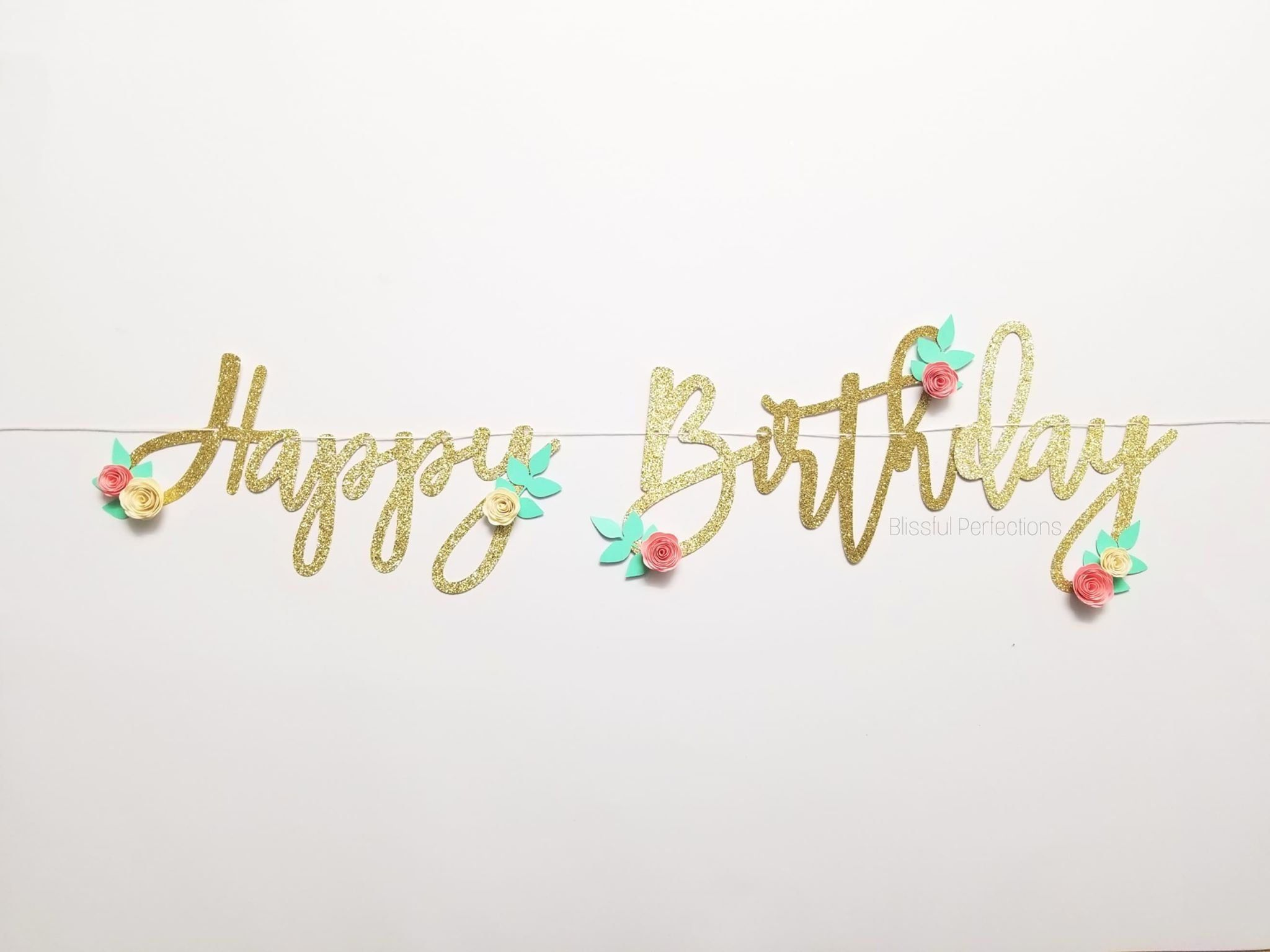 Happy Birthday Banner Floral Birthday Banner Boho Birthday Happy Birthday Banners Birthday Banner Boho Birthday