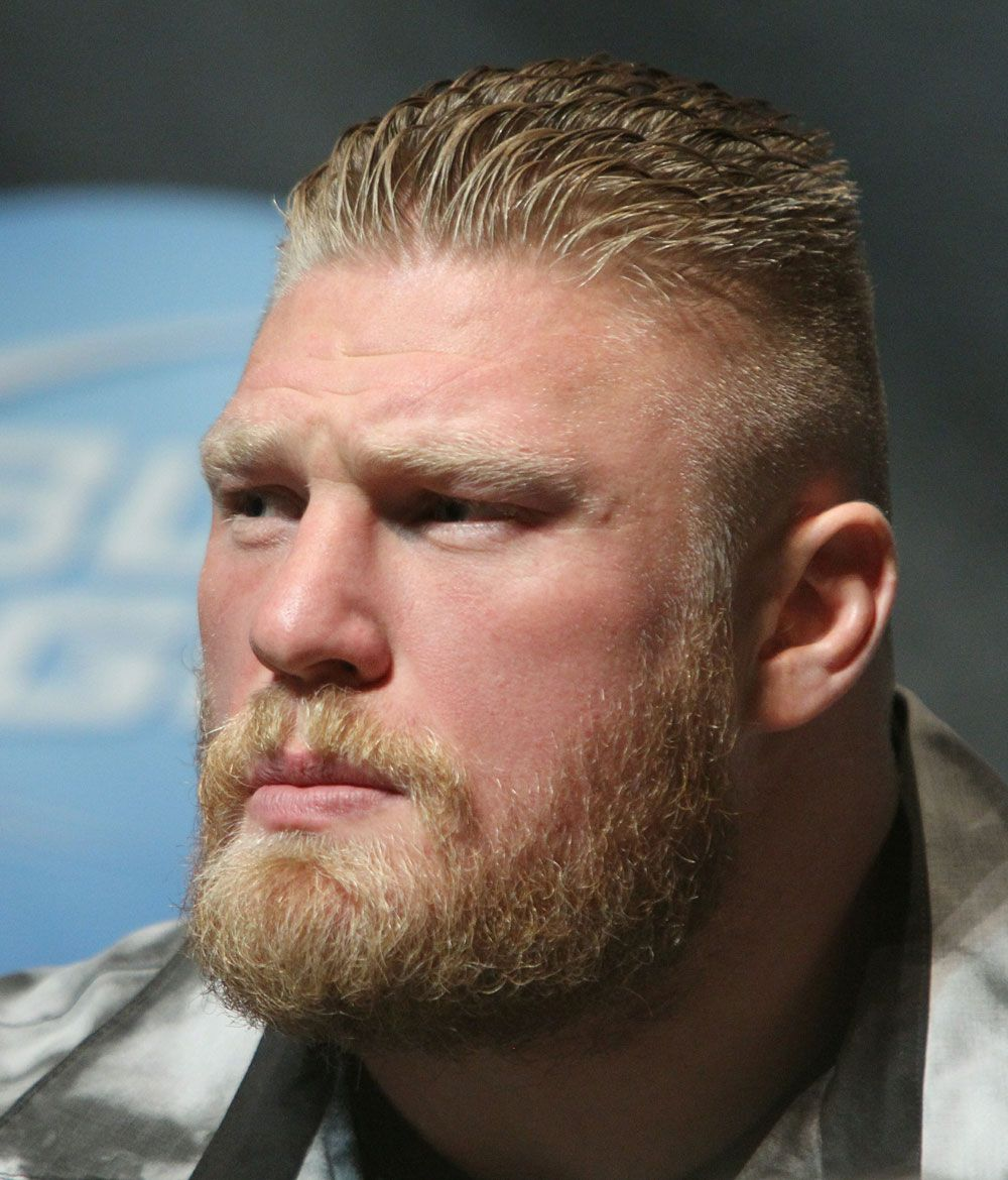 Pin By Mmaoutlook On Mixed Martial Artists Brock Lesnar Mens Hairstyles Beard