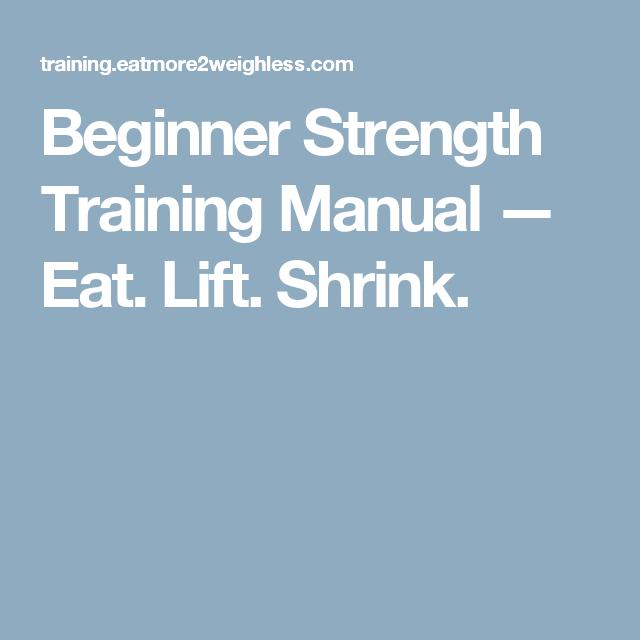 Beginner Strength Training Manual  Eat Lift Shrink  Posture
