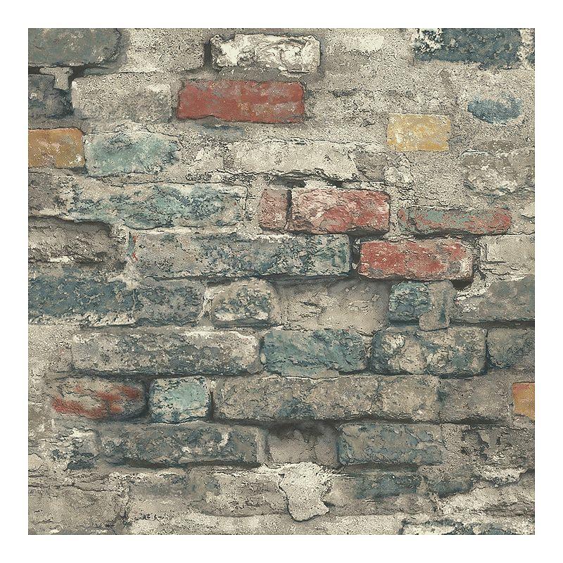 Roommates Faux Brick Alley Peel Stick Wallpaper In 2020 Peel And Stick Wallpaper Brick Wallpaper Antique Brick