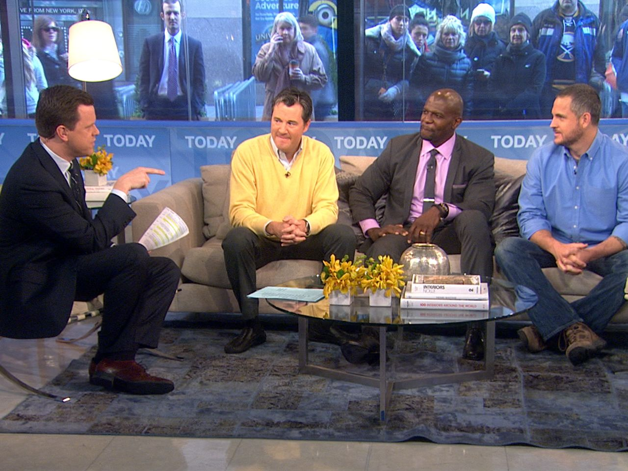 TODAY's Willie Geist and a panel of three men from various walks of life – marriage and family therapist Hal Runkel, actor and father of five Terry Crews, and author Sam Sheridan – give a guy's perspective on common relationship and family issues.