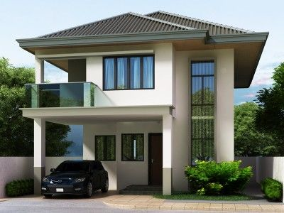Two story house plans series php 2014004 pinoy house for Up and down house design in the philippines
