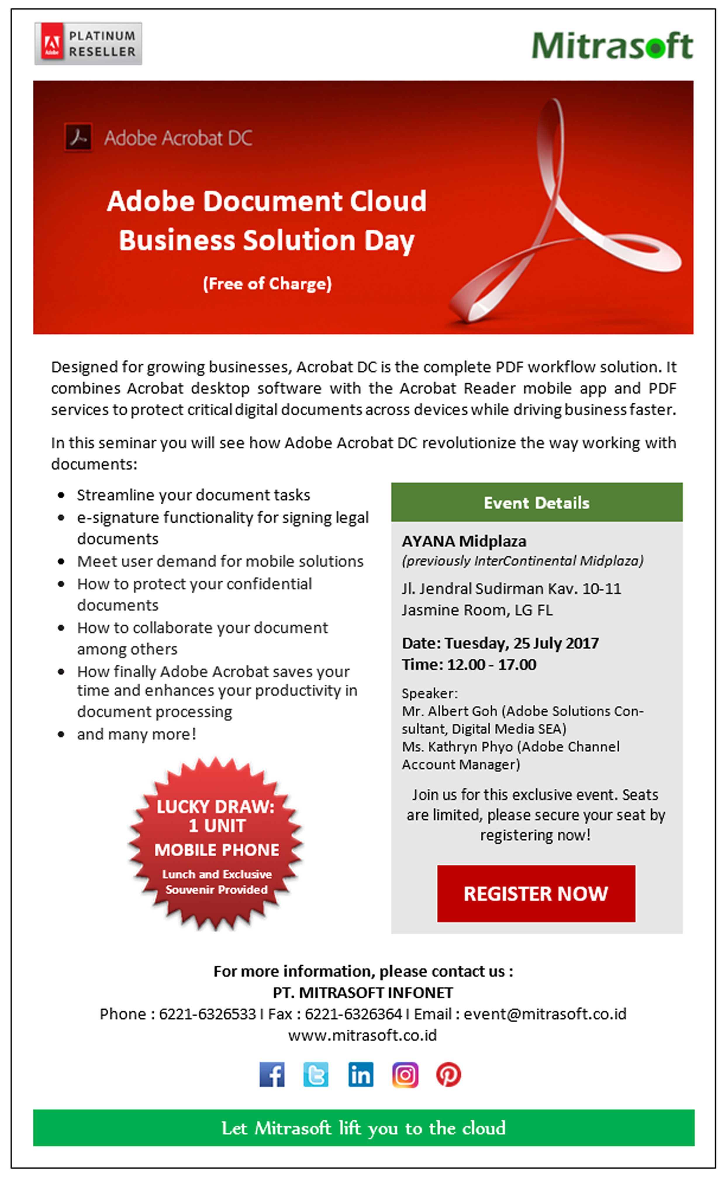 MitrasoftEvent #Adobe Document Cloud Business Solution Day