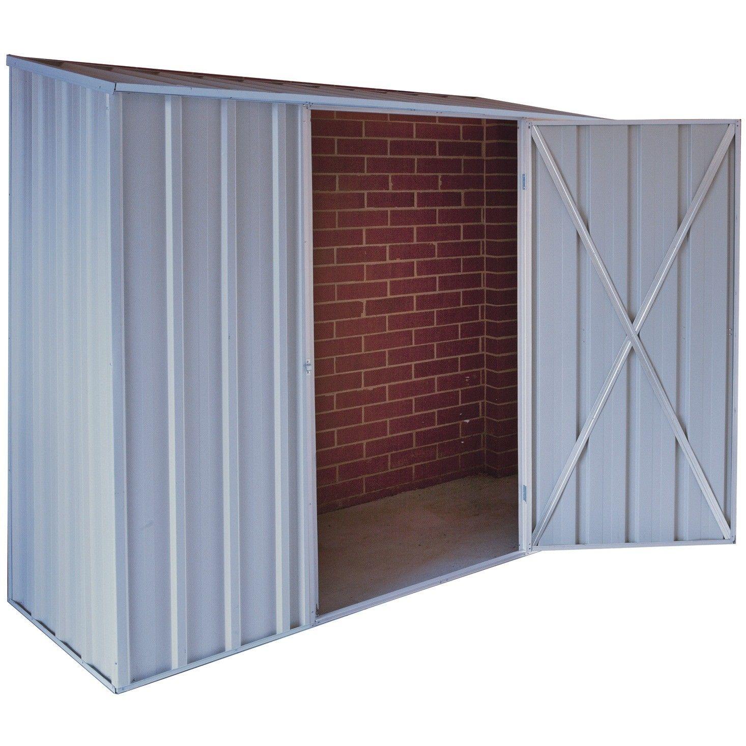 endurashed 0219ez compact off the wall 8 x 3 zinc aluminium shed - Garden Sheds 8 X 3